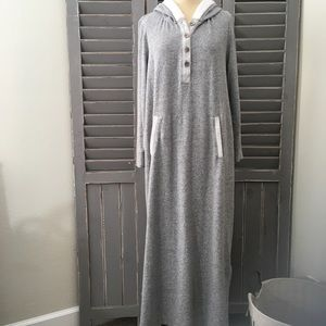 Soft Surroundings Hooded Pullover Robe Soft Cozy